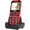 EVOLVEO EASYPHONE XD SENIOR RED/SILVER