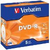VERBATIM DVD-R 16X 4,7GB MATT SILVER JEWEL CASE 5 PACK