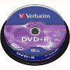 VERBATIM DVD+R 16X 4,7GB MATT SILVER CAKEBOX 10
