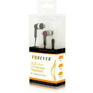 FOREVER 3.5MM UNIVERSAL HEADSET BLACK