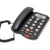 OSIO OSWB-4760B CABLE TELEPHONE WITH BIG BUTTONS SPEAKERPHONE AND SOS BLACK