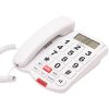 OSIO OSWB-4760W CABLE TELEPHONE WITH BIG BUTTONS SPEAKERPHONE AND SOS WHITE