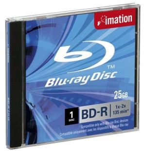 IMATION BLU-RAY BD-R 2X SINGLE LAYER 25GB JEWELCASE