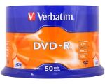 VERBATIM DVD-R 16X 4.7GB CAKEBOX 50PCS