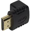 LOGILINK AH0007 HDMI ADAPTER 90° ANGELED 19-PIN MALE TO 19-PIN FEMALE GOLD PLATED