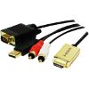 LOGILINK CV0052A HDMI TO VGA WITH AUDIO CABLE 2M BLACK