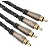 HAMA 122292 AUDIO CABLE 2 RCA PLUGS - 2 RCA PLUGS METAL GOLD-PLATED 1.5M