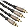 HAMA 122293 AUDIO CABLE 2 RCA PLUGS - 2 RCA PLUGS METAL GOLD-PLATED 3M